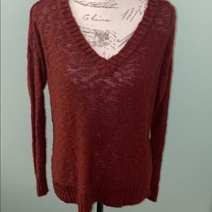 Charlotte Russe lightweight burgundy color sweater